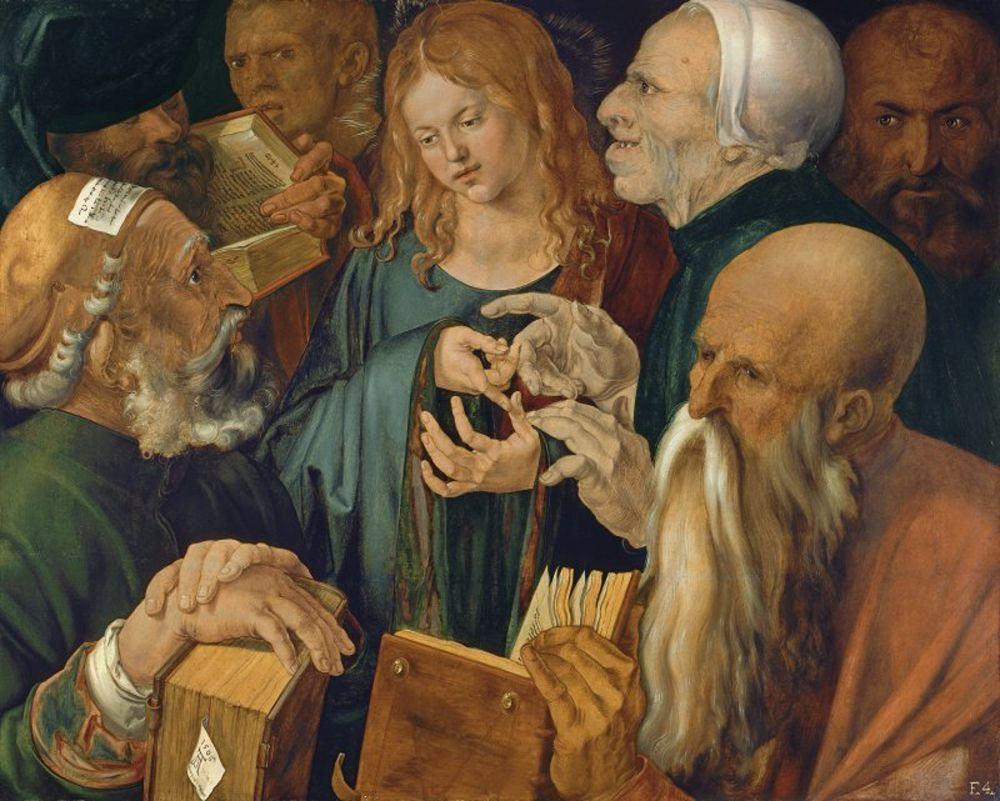 Albrecht Dürer - Jesus among the Doctors.jpg
